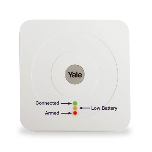 Yale Smart Hub with explanation of what the lights at the front indicate