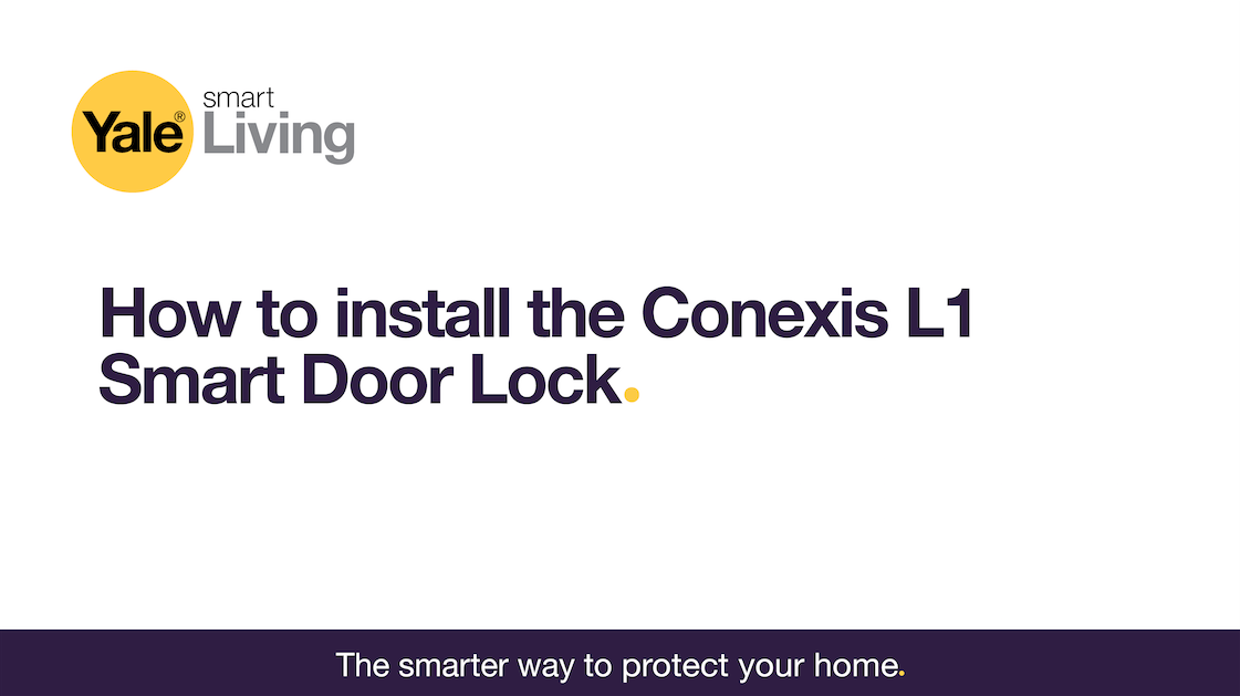 Image linking to video showing how to install the Conexis L1 Smart Door Lock.