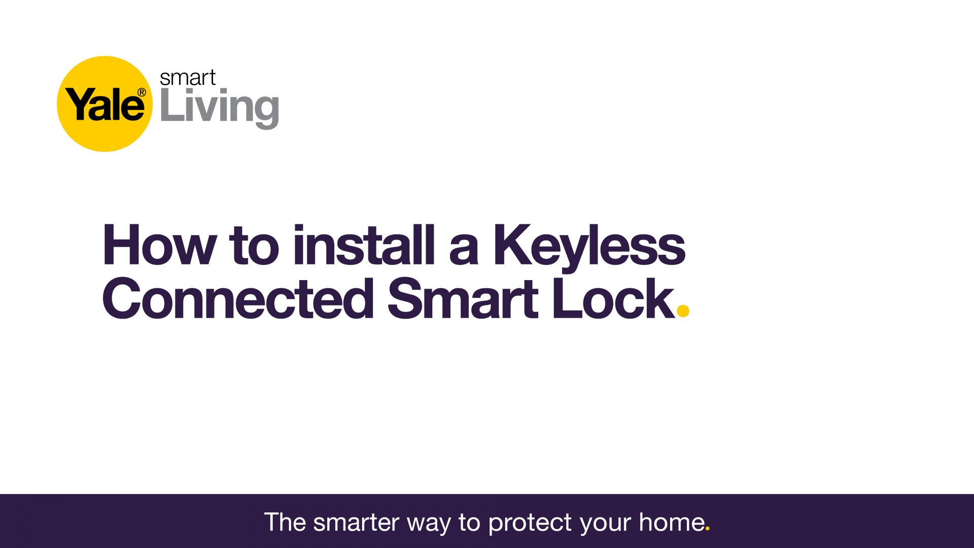 Image showing how to install a Keyless Connected Smart Door Lock.