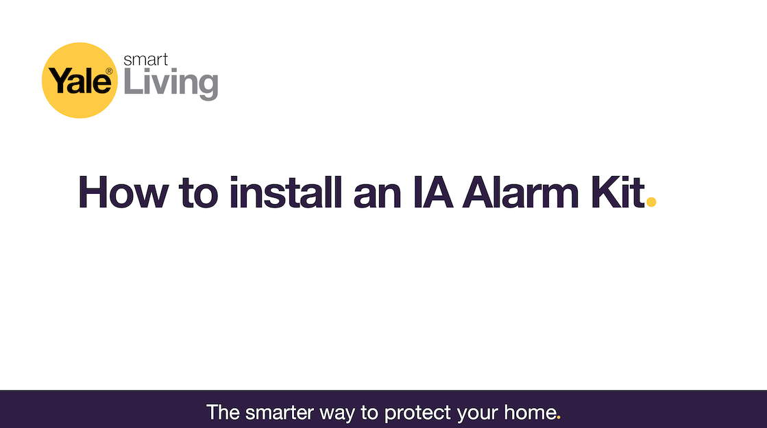 Image linking to a video showing how to install an IA Alarm Kit.