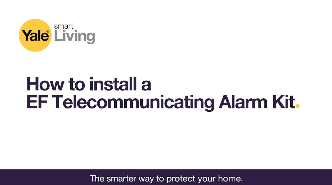 Image linking to video showing how to install an EF Telecommunicating alarm.